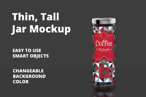 Thin - Tall Jar Mockup