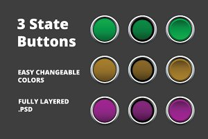 3 State Buttons