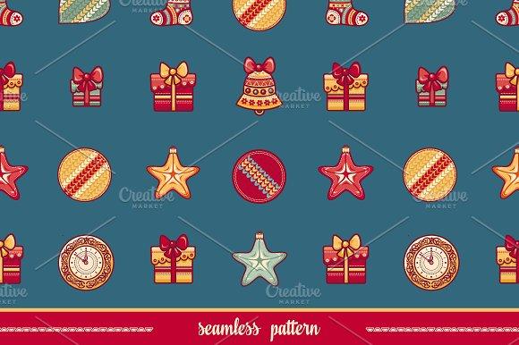 Seamless pattern. Christmas style. - Patterns