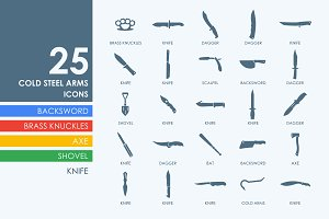 25 cold arms icons