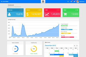 LaunchPad - Responsive Admin