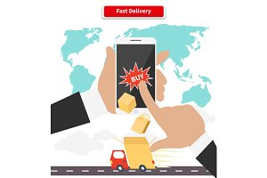 Buying and Fast Delivery by Smartpho