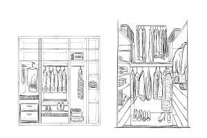 Wardrobe sketch