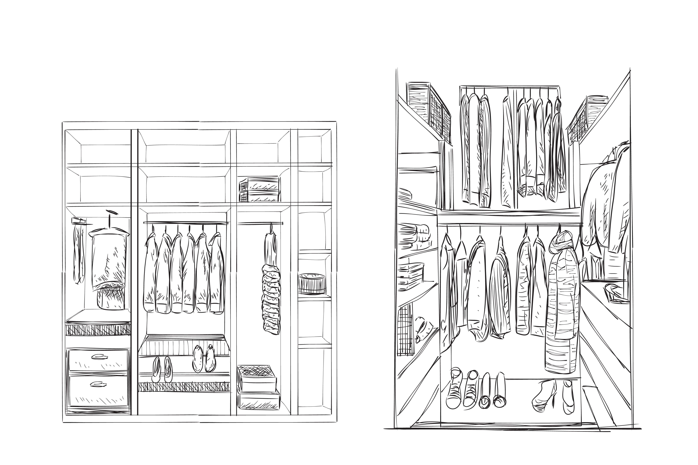 Wardrobe sketch ~ Illustrations ~ Creative Market