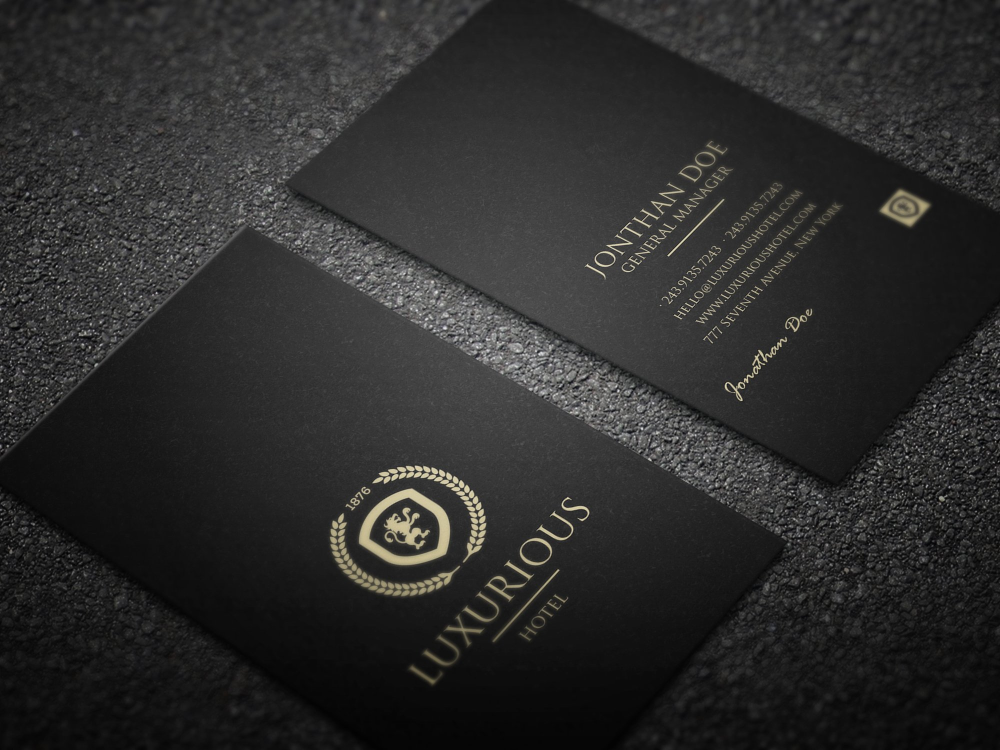 Luxurious business card ~ Business Card Templates ~ Creative Market