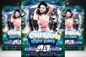 Ciusan Night Party Flyer Template
