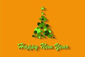 Happy New Year background retro colo