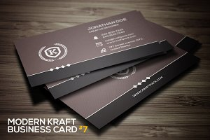 Modern kraft business card #7
