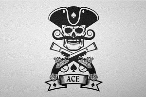 Pirate logo with pistols