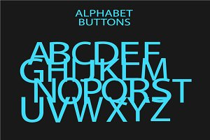 Alphabet vector neon color