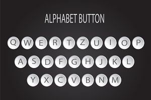 Alphabet buttons type machine