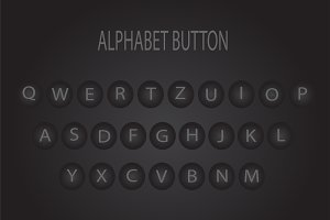 Alphabet buttons type machine keyboa
