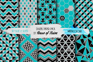 Sky Blue Geometric Pack