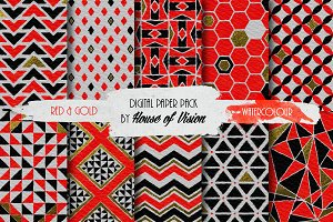 Red Geometric Pack
