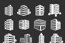 Vector set of hotel icons