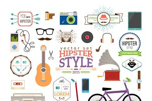 Hipster infographics elements
