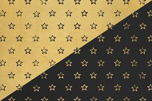 Black & Gold Star Pattern