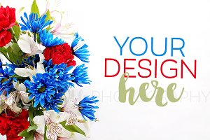 Patriotic Flower Bouquet Photo