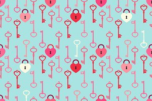 Seamless Valentines Day background