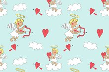 Seamless Valentines Day background