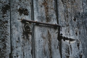 Latch and Rusty Old Lock