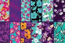12 seamless floral pattern