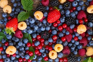 background of fresh berries