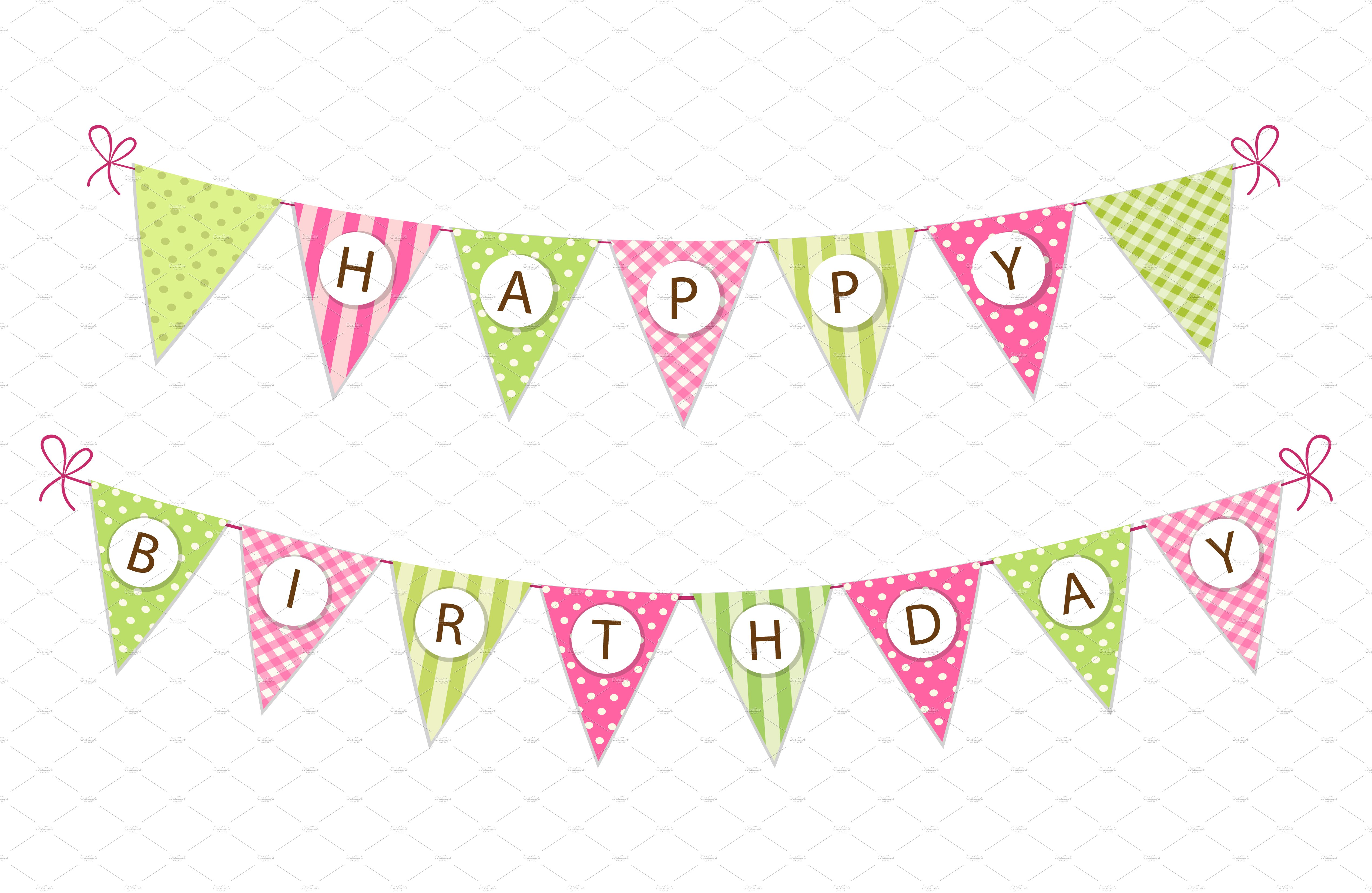 Banner Feliz Aniversario: Cute Happy Birthday Bunting Flags