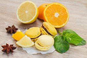 Citrus macaroons