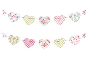 Cute hearts garland