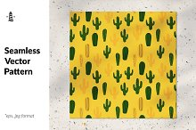 Cactus seamless pattern by  in Graphics