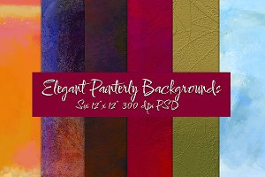 Elegant Painterly Backgrounds
