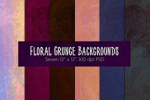 Floral Grunge Backgrounds