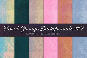 Floral Grunge Backgrounds #2