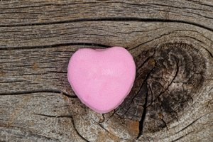 Single Pink Heart Candy