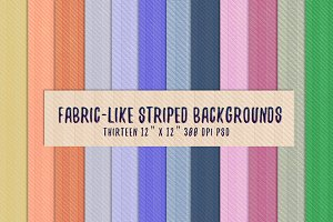 Fabric-Like Striped Backgrounds