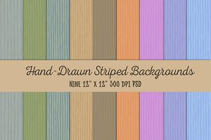 Hand-Drawn Striped Backgrounds