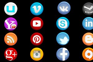 Social pack icons