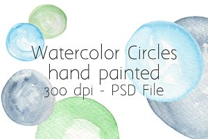 Watercolor Circles (x30)