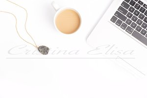 Keyboard Coffee Jewelry Mockup