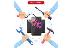 Concept Mobile Service Repair Gadge…