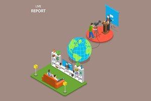 Live report isometric concept