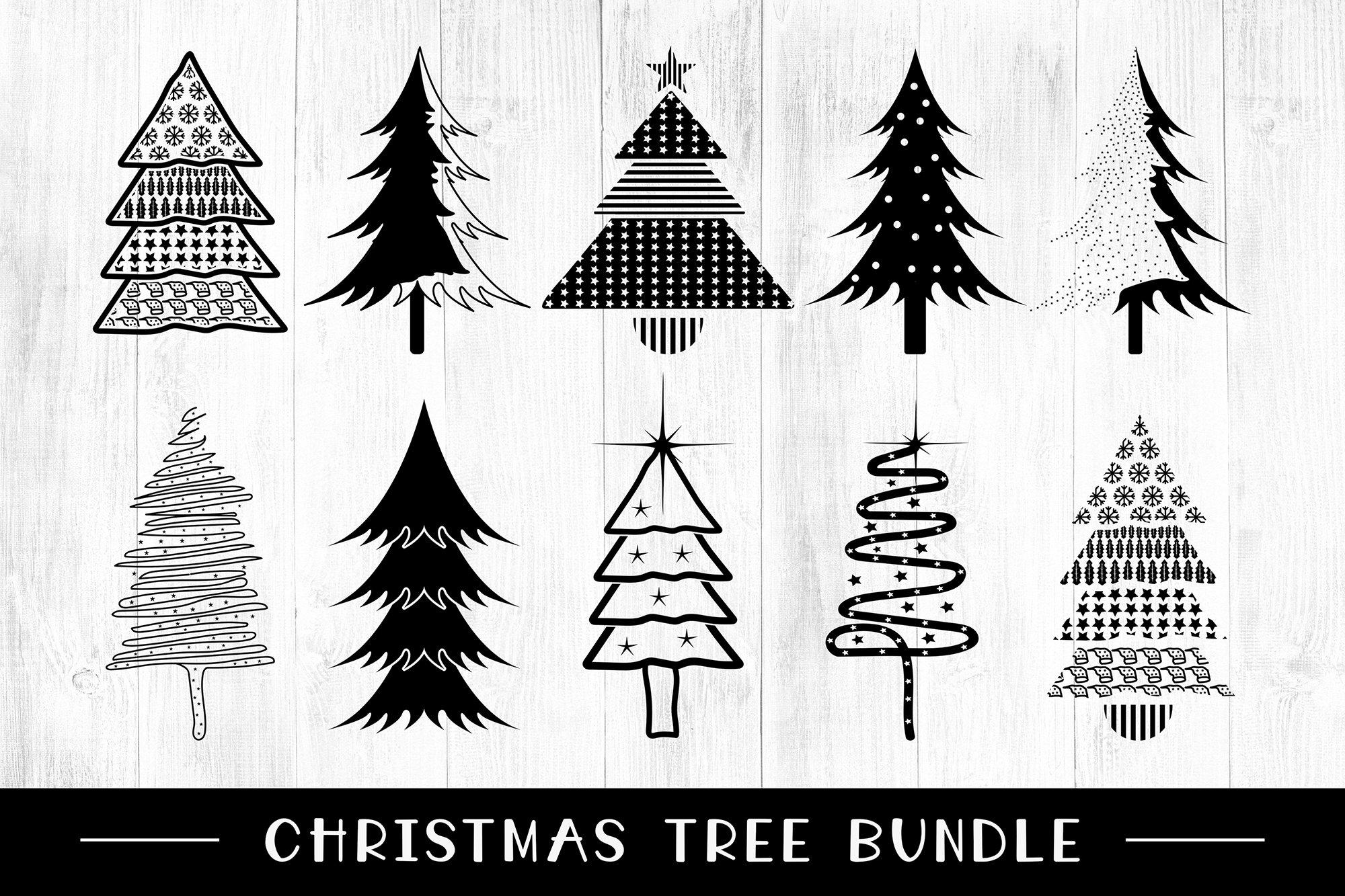 Christmas Tree Svg Bundle Pre Designed Illustrator Graphics Creative Market