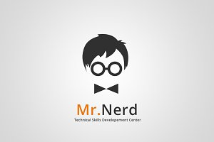 Mr.Nerd Logo Template
