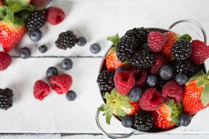 Berries in a basket
