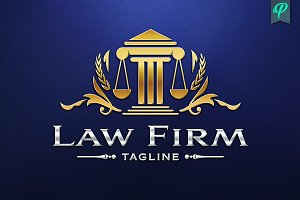 Law Firm, Abogado Logo Template