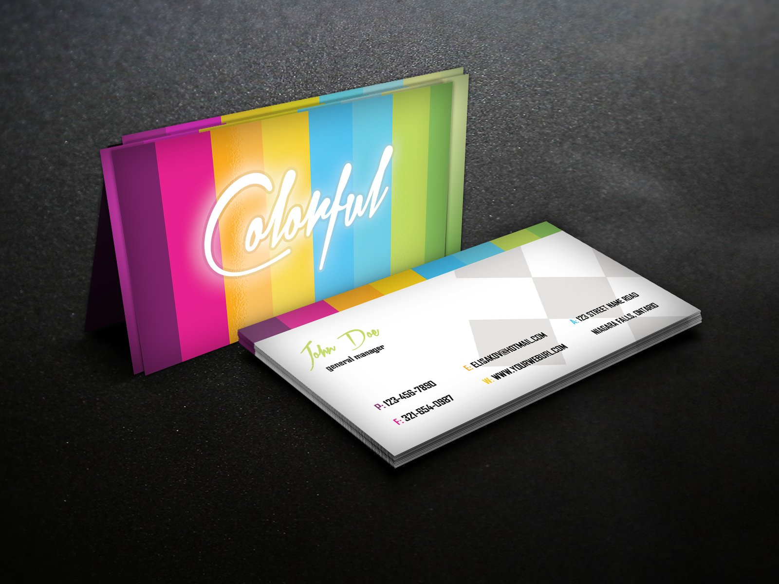 Colorful - Business Card Template ~ Business Card Templates ...