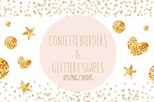 Confetti Borders and Shapes