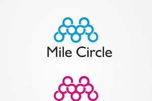 50%OFF Mile Circle Logo Template