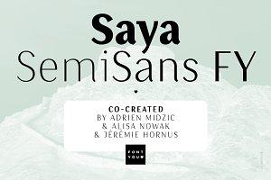 Saya SemiSans FY Bold Italic